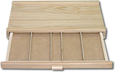 holzbox schublade f r stifte pinsel utensilien ebay. Black Bedroom Furniture Sets. Home Design Ideas